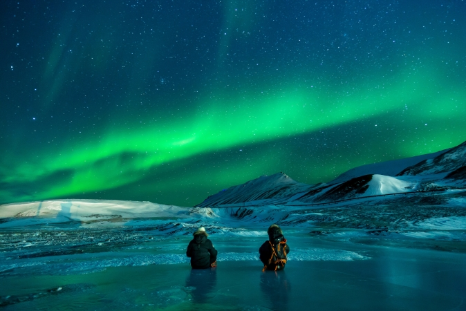 L'Aurora Boreale a bordo del postale dei Fiordi Marzo 2020